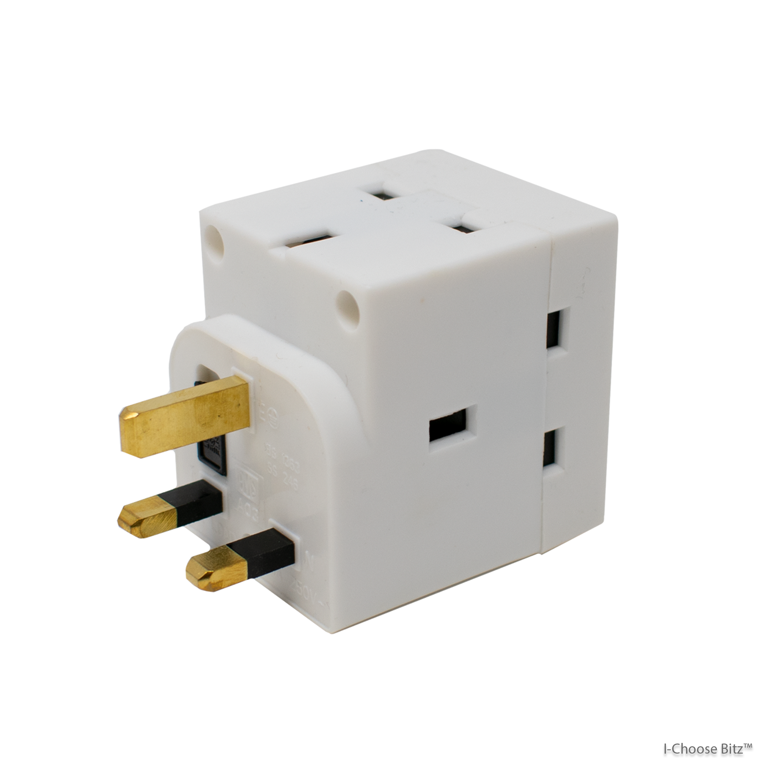 UK Mains 3-Pin Plug Splitter Socket Extender Adapter Block / 250v ...
