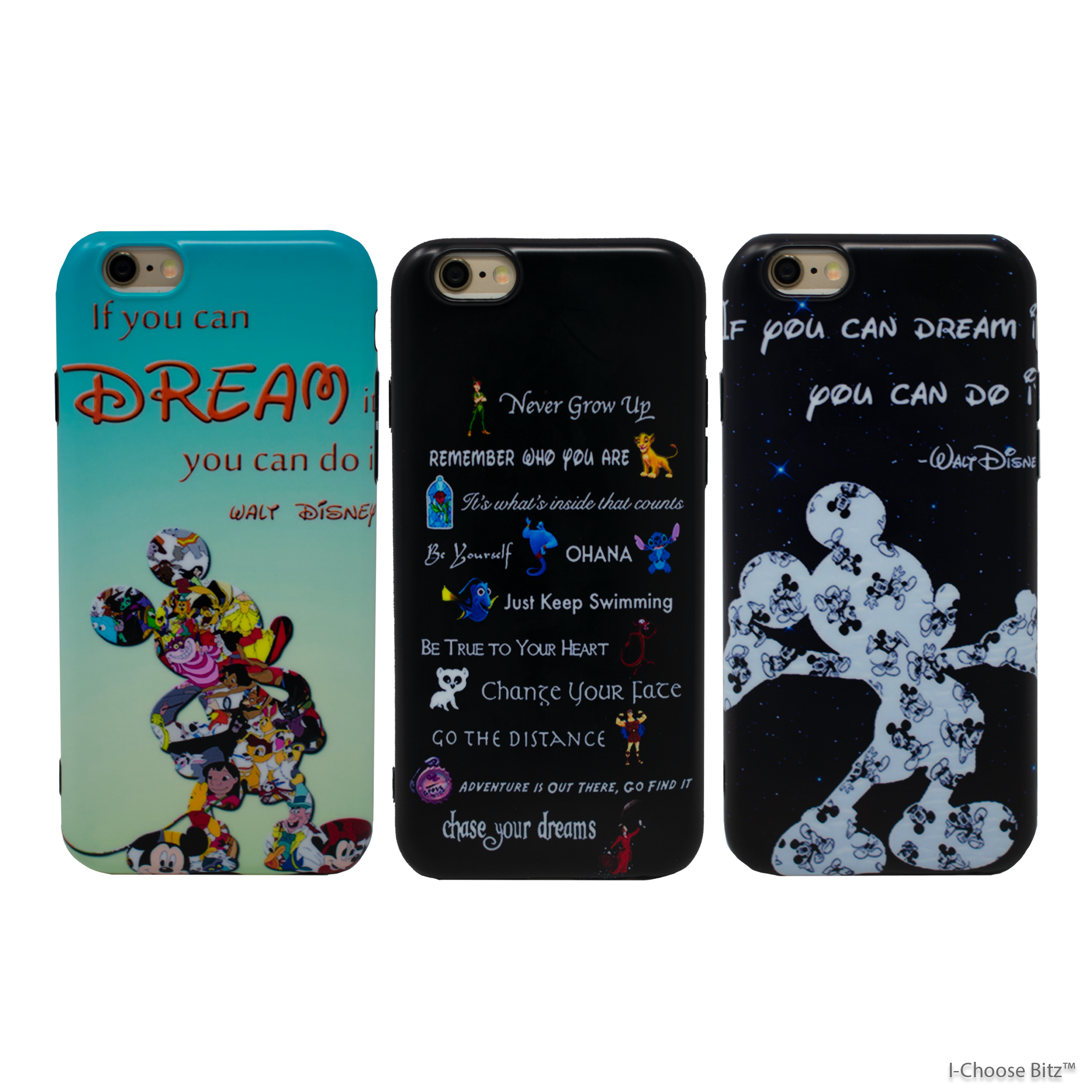 disney quote strong glossy case/cover apple iphone 6/6s/7/8/x/10